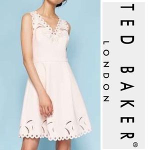 Ted Baker Embroidered Nude Pink Dress*NWT
